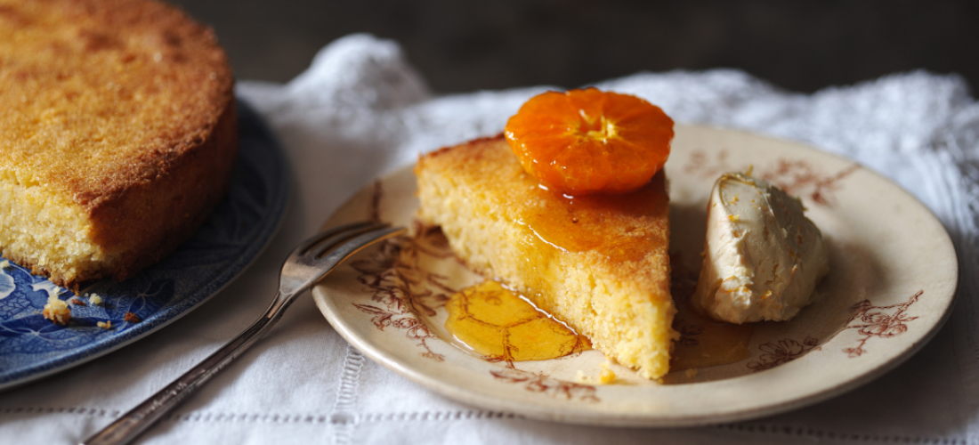 Polenta and Great Ness Orange Zest Rapeseed Oil Cake
